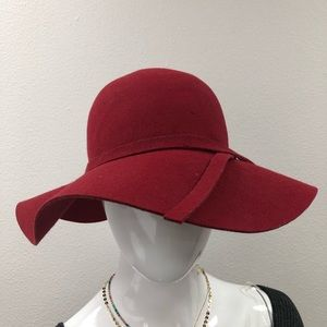 Urban Outfitters Wool Red Floppy Boho Hat